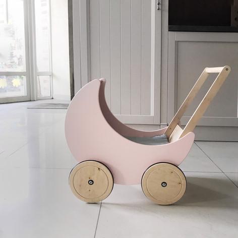 moon toy pram light pink