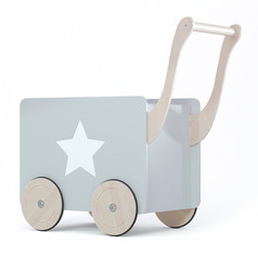 toy chest on wheels grey