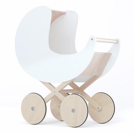 toy pram white 2