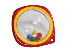 Cot rattle beads red-yellow