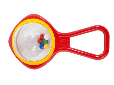 Ball beads red-yellow