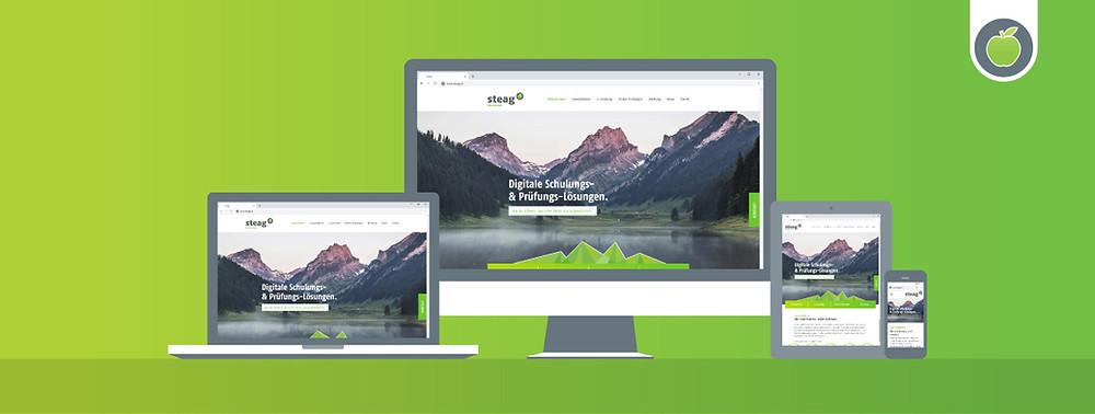 Die Website der Steag erscheint für Sie im neuen Look. Informativ, frisch und mit einer einfach verständlichen Navigation, damit Sie noch schneller finden, was Sie brauchen: unsere digitalen Schulungs- und Prüfungs-Lösungen für Sie. Aus der Schweiz. Aus einer Hand. Aus Sergewöhnlich.