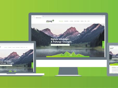 Die Website der Steag & Partner AG im neuen Look