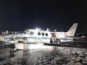 Air ambulance makes belly landing at Chhatrapati Shivaji Airport, Mumbai