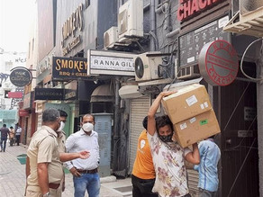 524 oxygen concentrators seized from different locations in New Delhi.