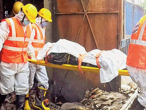 Charred bodies of four employees found from gutted factory in West Bengal.