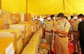 Withing 48hrs, Gunter Police seized banned tobacco products worth ₹97 lakh.