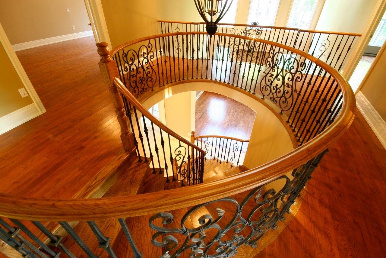 Railing upstairs