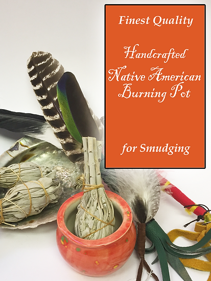 Handcrafted Native American Burning Pot