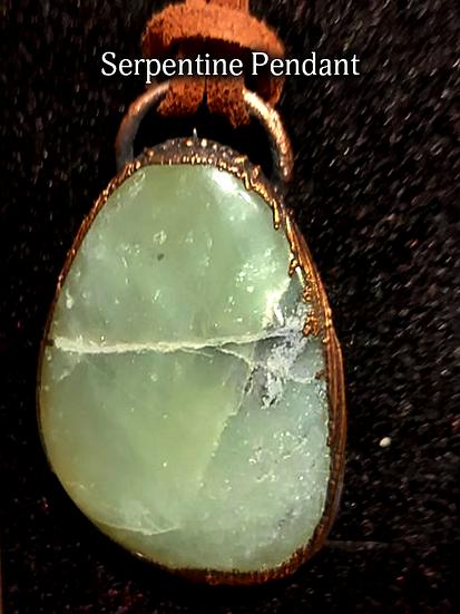 Handcrafted Serpentine Pendant