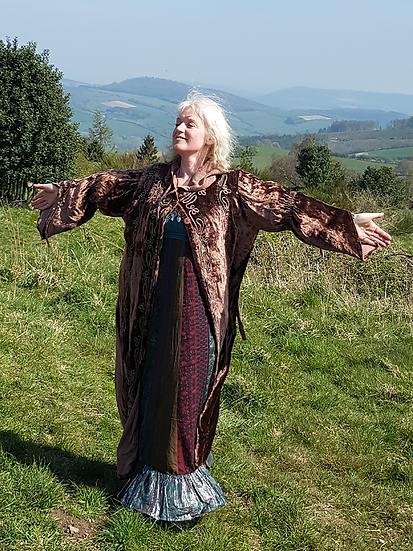Velvet Long Goddess Coat