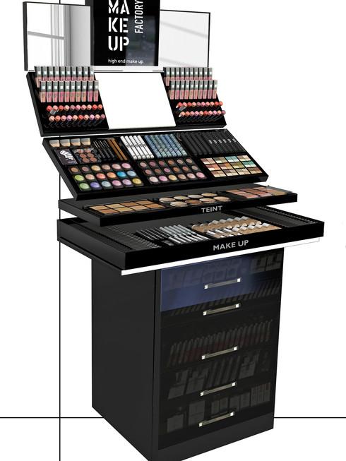 Module, Module, Module... General Tester Stand  mit extra viel Platz in der großen  Sockelschubladen für die Verkaufsware.