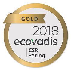 Zertifikat ecovadis 2018 GOLD CSR Rating