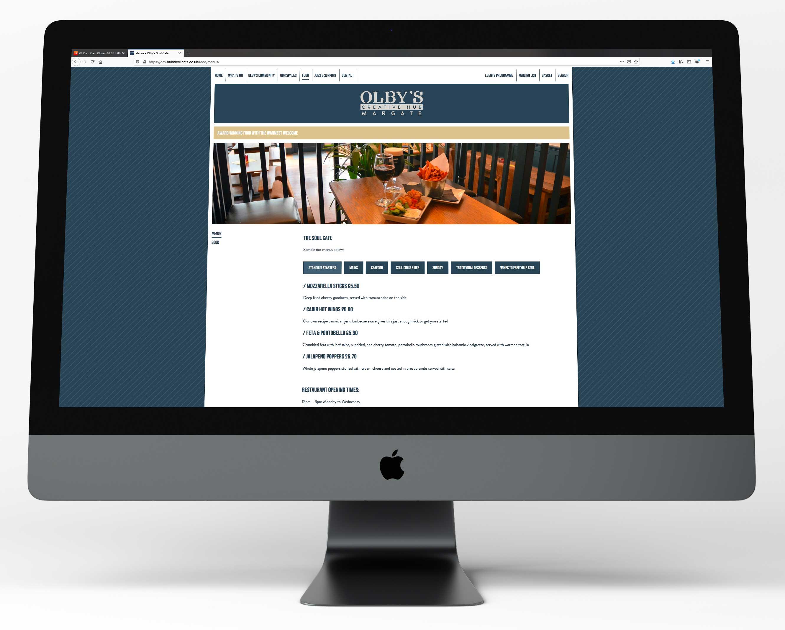 Olbys website - food