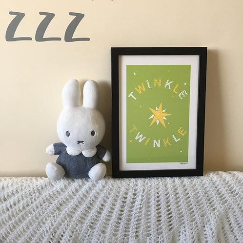 Twinkle twinkle A4 print