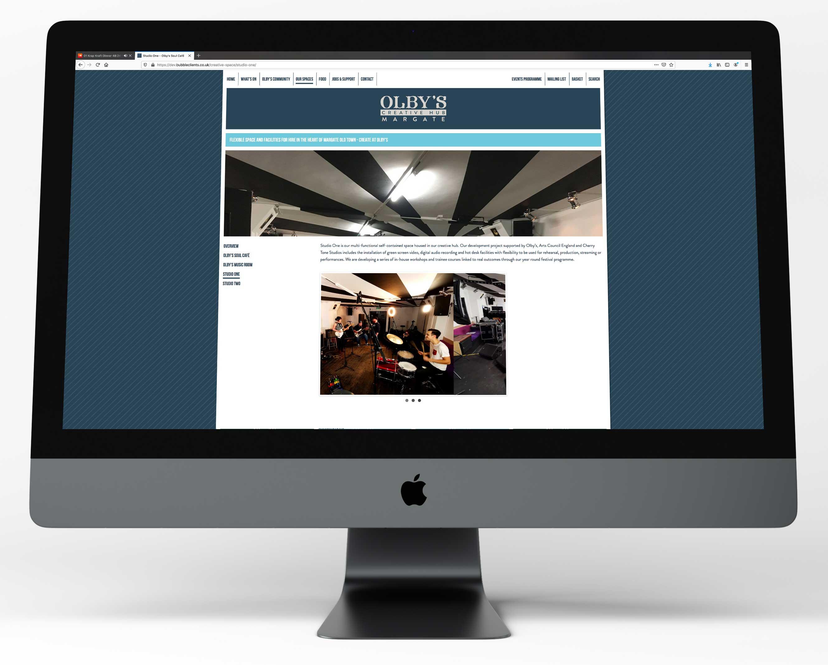 Olbys website - spaces