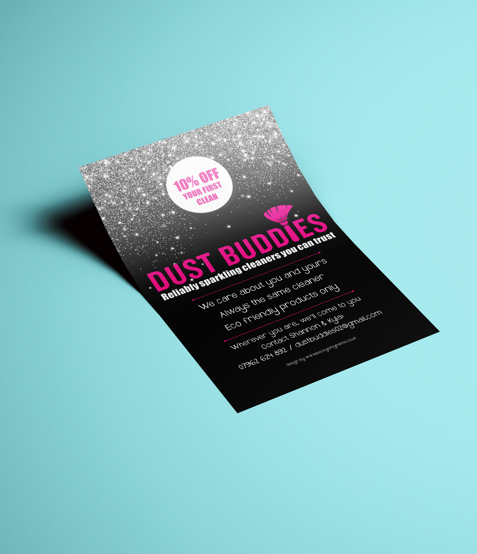 Dust Buddies flyer design