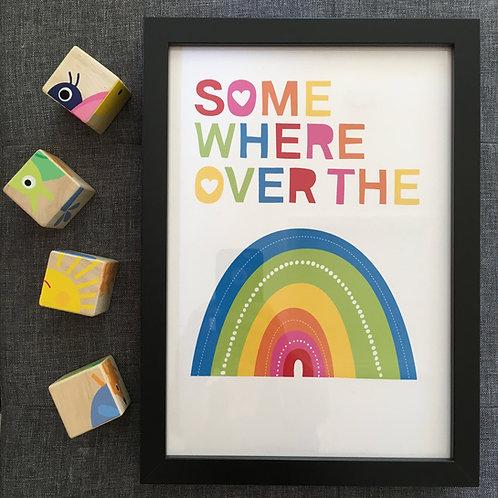 Somewhere over the rainbow A4 print