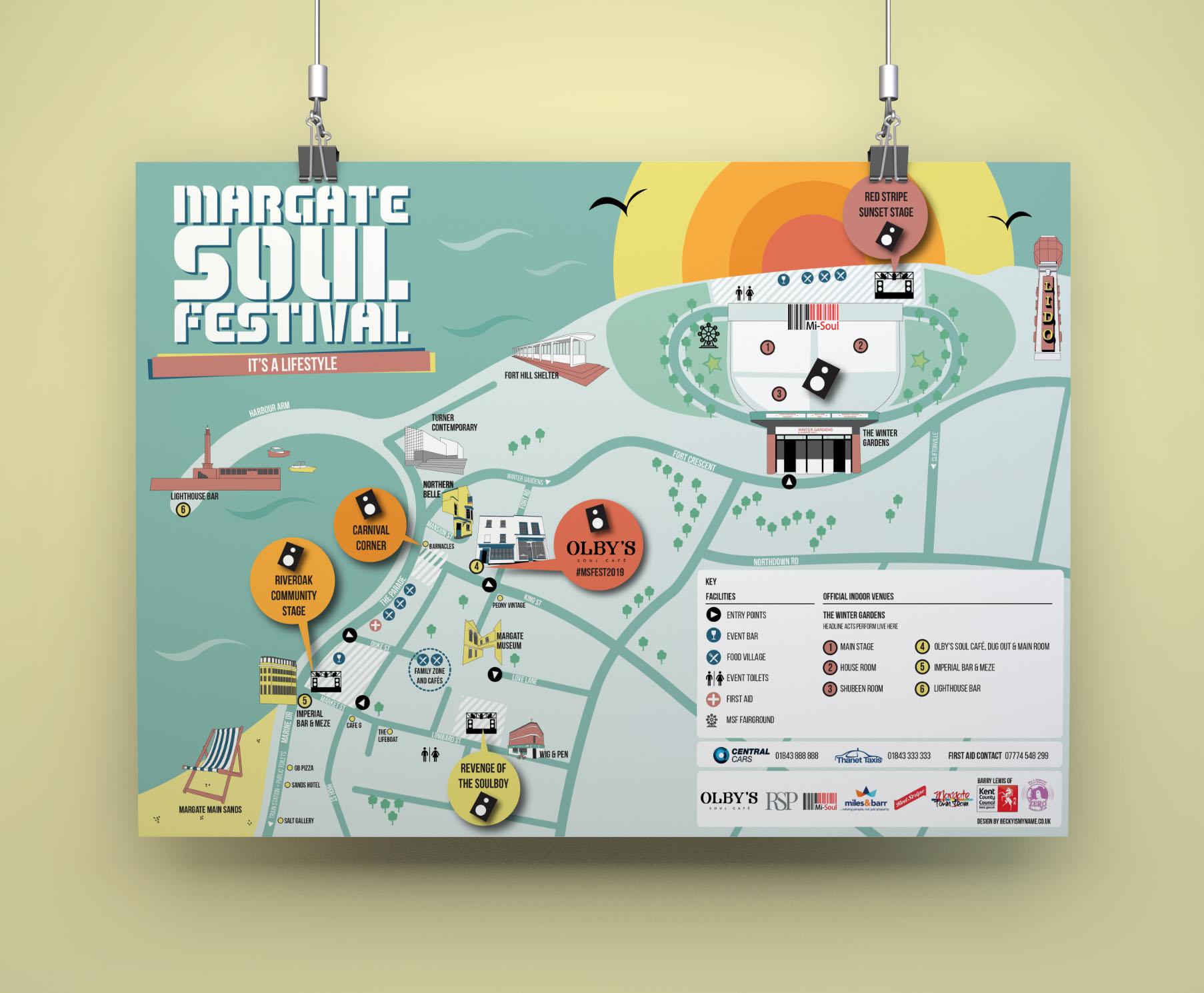 Margate Soul Festival Map
