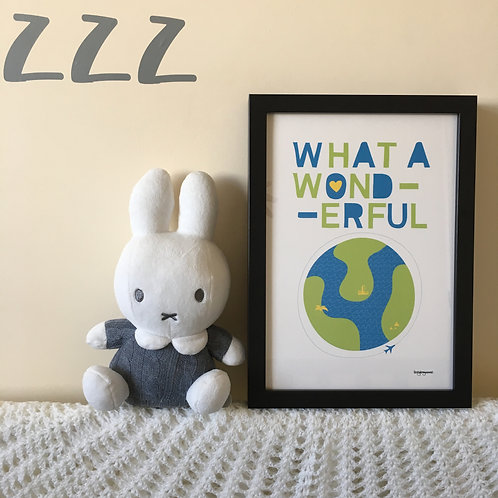 What a wonderful world A4 print