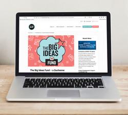 Action Duchenne website on MacBook Pro