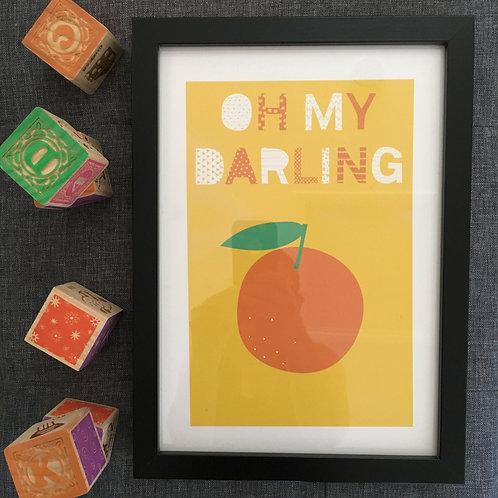 Oh my darling clementine A4 print
