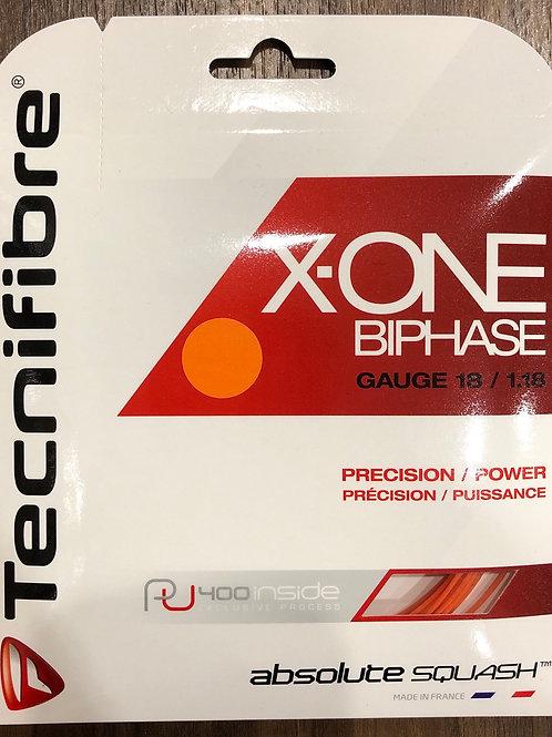 テクニファイバー(Tecnifibre) スカッシュ用ストリング X-ONE BIPHASE 1.18mm ORANGE