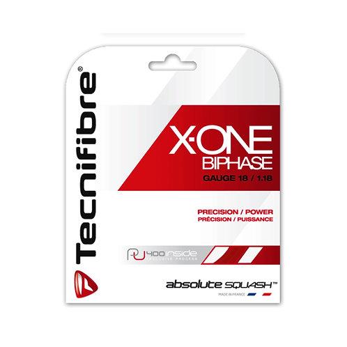 テクニファイバー(Tecnifibre) スカッシュ用ストリング X-ONE BIPHASE 1.18mm RED