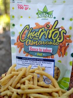 Churritos de Amaranto con Sal 100g.