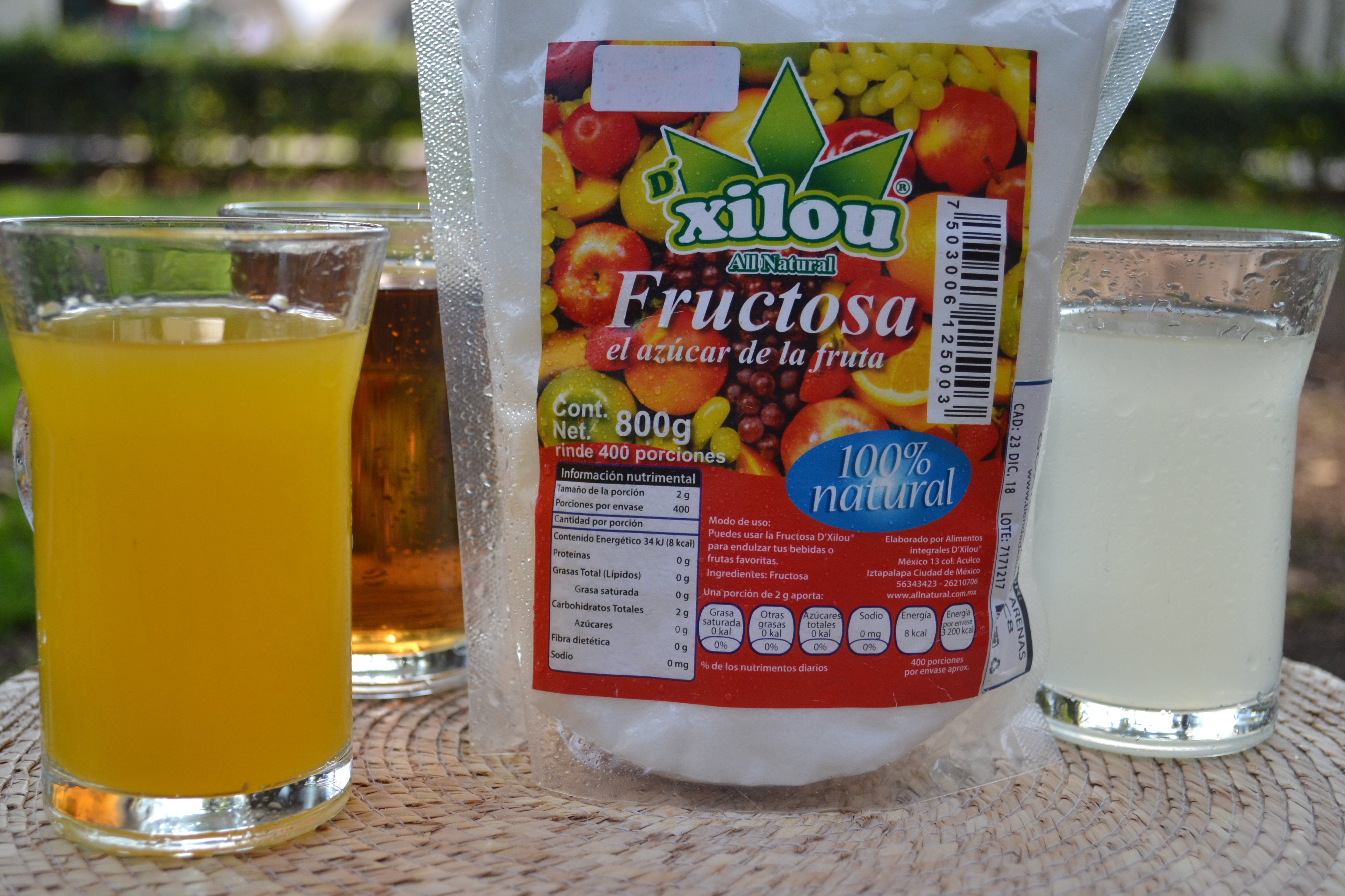Fructosa 800g.