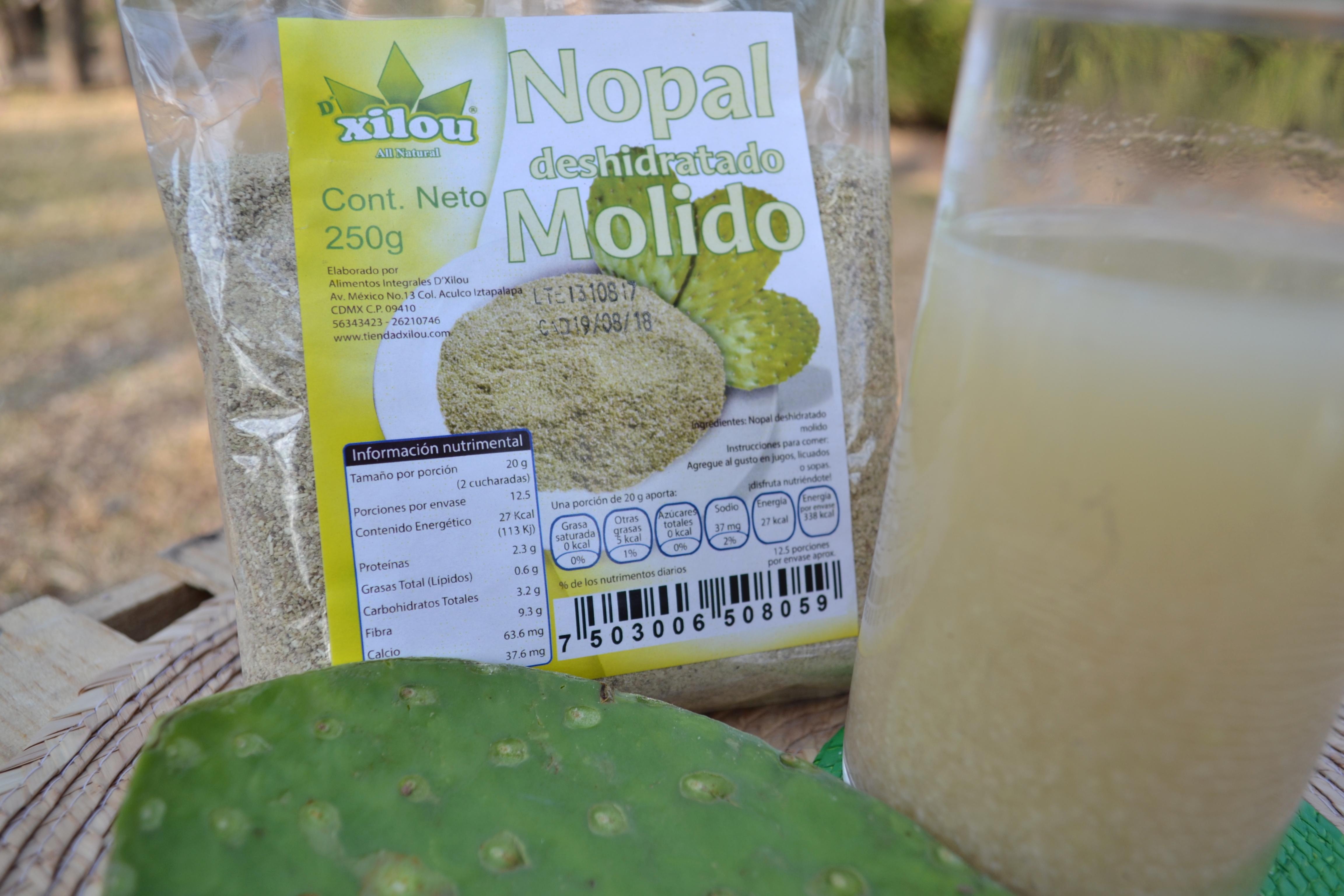 Nopal Deshidratado Molido 250g.