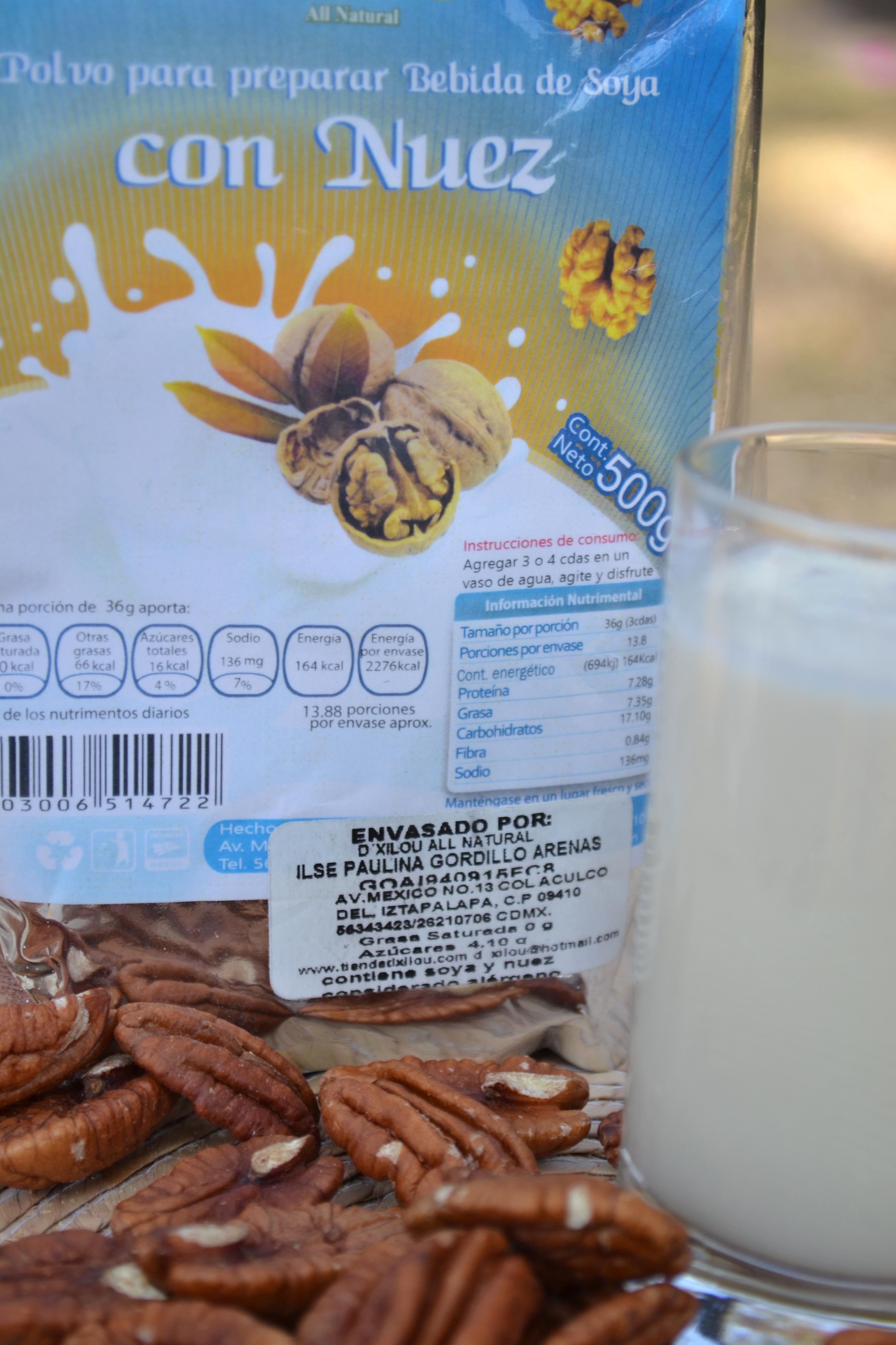 Bebida de Soya con Nuez 500g.