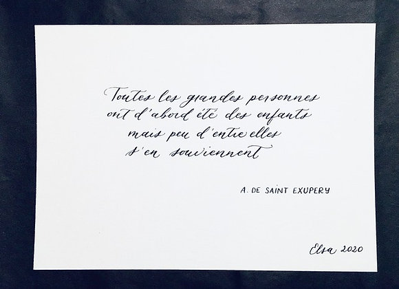 Citation Antoine de Saint Exupéry