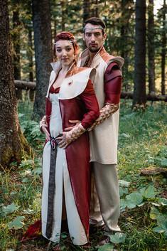 Reine et Roi des Dragons, Costumes Fantastiques