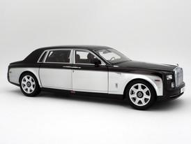 Rolls-Royce Phantom EWB (Dark Red - Silver) - 2012 - Kyosho