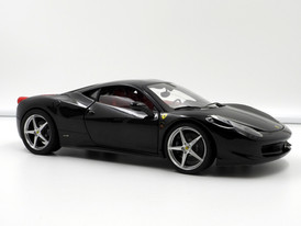 Ferrari 458 Italia (Black-Red) - 2009 - Hot Wheels Elite
