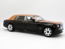 Rolls-Royce Phantom EWB (Diamond Black-Gold) - 2012 - Kyosho