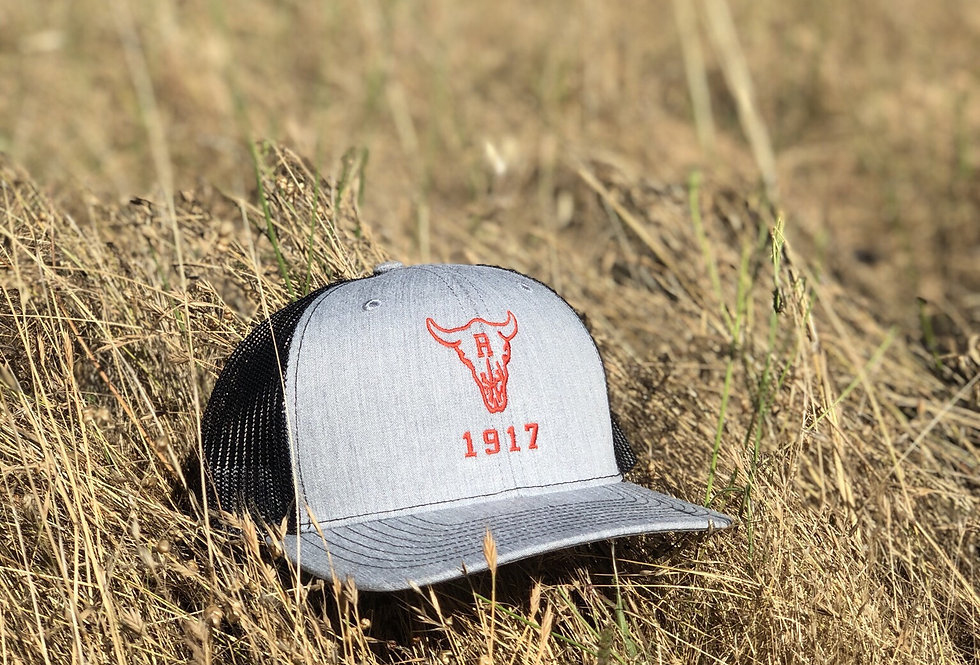Ranch 1917 Trucker Snapback Heather Grey/Black (ONE SIZE FITS MOST)