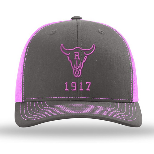 Ranch 1917 Trucker Snapback Grey/Pink (ONE SIZE FITS MOST)