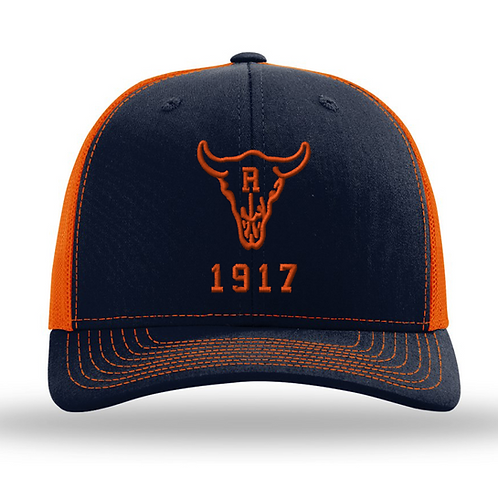 Ranch 1917 Trucker Snapback Navy/Orange (ONE SIZE FITS MOST)