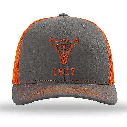 Ranch 1917 Trucker Snapback Grey/Orange (ONE SIZE FITS MOST)