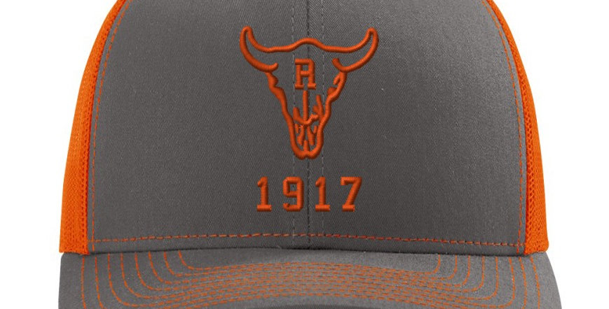 Ranch 1917 Trucker Snapback Grey/Orange (ONE SIZE FITS MOST)