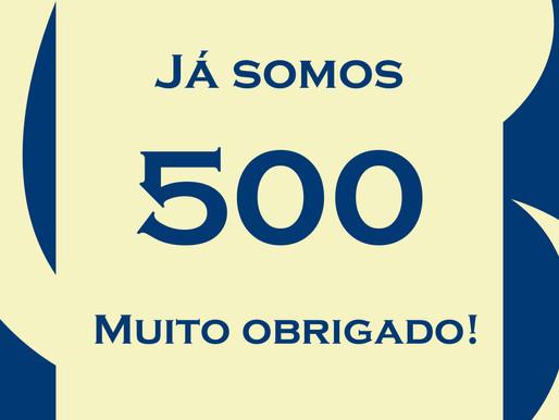 500 curtidas no Facebook!