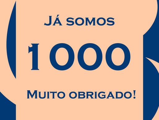 1000 curtidas no Facebook!