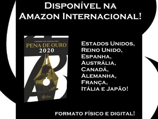 Livro dos finalistas do Pena de Ouro 2020 disponível na Amazon Internacional!