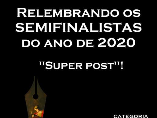 """O """"SUPER POST"""": relembre os poetas SEMIFINALISTAS do Pena de Ouro de 2020!"""