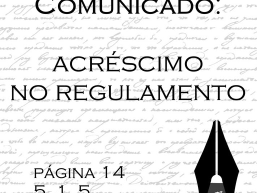 Comunicado — acréscimo no regulamento do Prémio Internacional Pena de Ouro 2021
