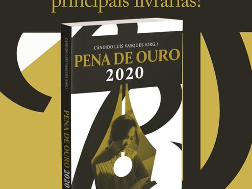 Já está disponível, em formato físico (impresso), o Livro dos Finalistas do Pena de Ouro 2020!