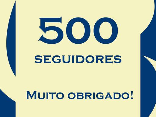 500 seguidores!