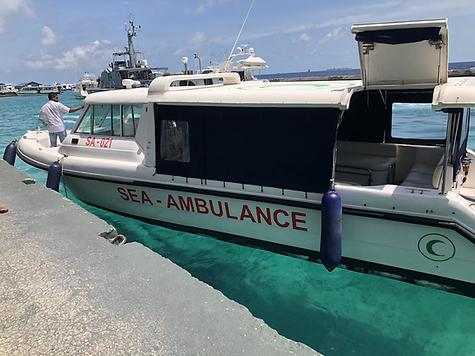 sea ambulance maldives